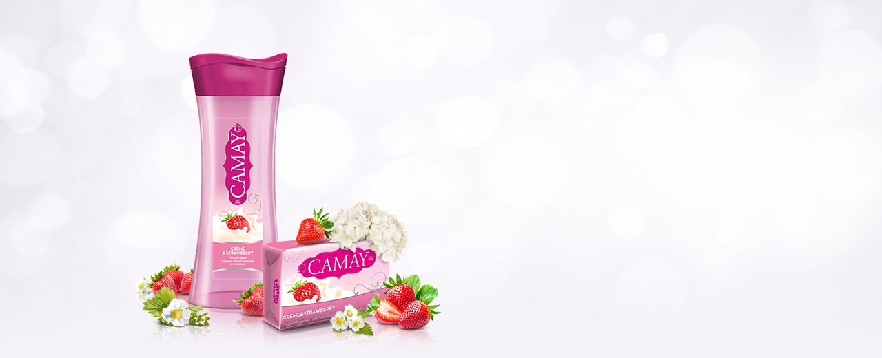 Коллекция Camay Crème and Strawberry