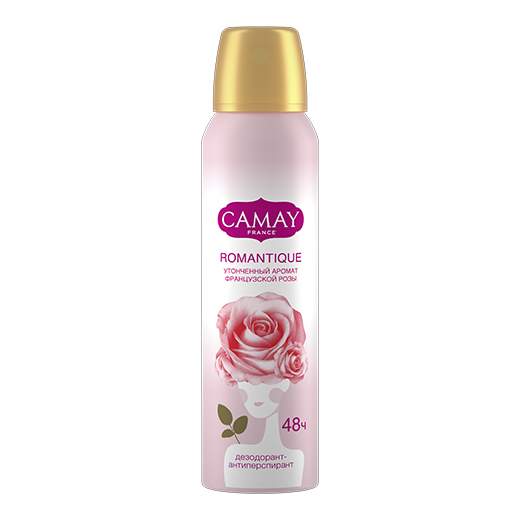 Product ДЕЗОДОРАНТ СПРЕЙ CAMAY FRENCH ROMANTIQUE